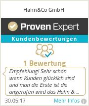 Erfahrungen & Bewertungen zu Hahn&Co GmbH