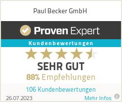 Erfahrungen & Bewertungen zu Paul Becker GmbH