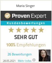 Erfahrungen & Bewertungen zu Maria Singer