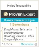 Erfahrungen & Bewertungen zu Helios Treppenlifte
