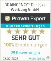 Erfahrungen & Bewertungen zu BRAINGENCY* Design + Werbung GmbH