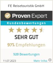 Erfahrungen & Bewertungen zu FE Reisetouristik GmbH