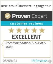 Ratings & reviews for Inselscout Übersetzungsagentur