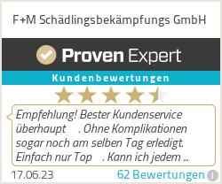 Erfahrungen & Bewertungen zu F+M Schädlingsbekämpfungs GmbH