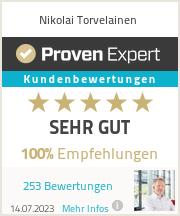 Erfahrungen & Bewertungen zu Nikolai Torvelainen