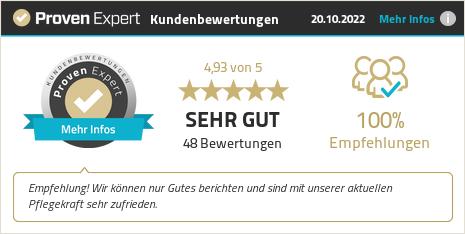 Kundenbewertungen & Erfahrungen zu Pflegenio GmbH. Mehr Infos anzeigen.