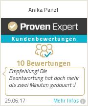 Erfahrungen & Bewertungen zu Anika Panzl