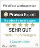 Erfahrungen & Bewertungen zu WebWest Werbeagentur