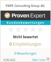 Erfahrungen & Bewertungen zu PAPE Consulting Group AG
