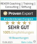 Erfahrungen & Bewertungen zu REKER Coaching | Training | Consulting | Stiftung