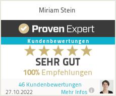 Erfahrungen & Bewertungen zu Miriam Stein