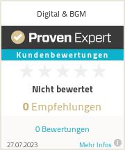 Erfahrungen & Bewertungen zu Digital & BGM