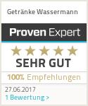 Erfahrungen & Bewertungen zu Getränke Wassermann