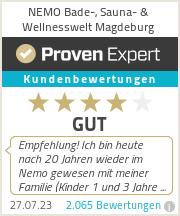 Erfahrungen & Bewertungen zu NEMO Bade-, Sauna- & Fitnesswelt Magdeburg
