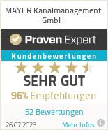 Erfahrungen & Bewertungen zu MAYER Kanal- und Rohrreinigung GmbH