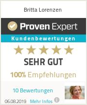 Erfahrungen & Bewertungen zu Britta Lorenzen