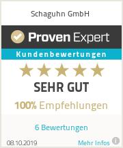 Erfahrungen & Bewertungen zu Schaguhn GmbH