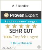 Erfahrungen & Bewertungen zu A-Z Kredite