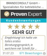 Erfahrungen & Bewertungen zu BRANDCONSULT GmbH - Versicherungsmakler für betriebliche Altersvorsorge (bAV)