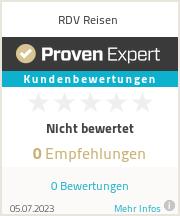 Erfahrungen & Bewertungen zu RDV Reisen