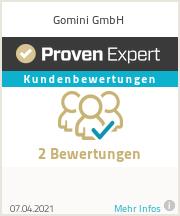 Motrer expériences & avis pour Gomini GmbH
