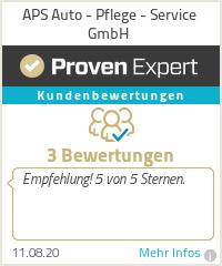 Erfahrungen & Bewertungen zu APS Auto - Pflege - Service GmbH
