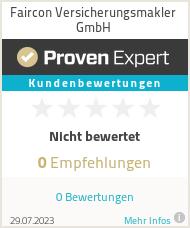 Erfahrungen & Bewertungen zu Faircon GmbH