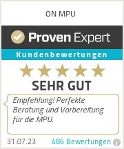 Erfahrungen & Bewertungen zu ON MPU
