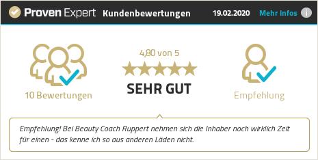 Kundenbewertungen & Erfahrungen zu Beauty Coach Ruppert. Mehr Infos anzeigen.