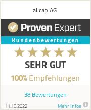 Erfahrungen & Bewertungen zu allcap AG