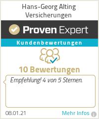 Erfahrungen & Bewertungen zu Hans-Georg Alting Versicherungen