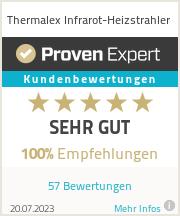 Erfahrungen & Bewertungen zu Thermalex Infrarot-Heizstrahler
