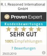 Erfahrungen & Bewertungen zu R. I. Reasoned International GmbH