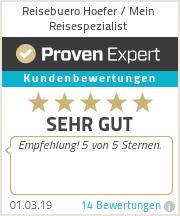 Erfahrungen & Bewertungen zu Reisebuero Hoefer / Mein Reisespezialist