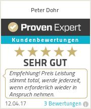 Erfahrungen & Bewertungen zu Peter Dohr