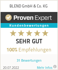 Erfahrungen & Bewertungen zu BLEND GmbH & Co. KG