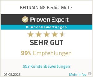 Erfahrungen & Bewertungen zu BEITRAINING Berlin-Mitte