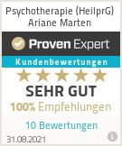 Erfahrungen & Bewertungen zu Psychotherapie (HeilprG) Ariane Marten