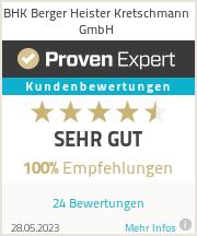 Erfahrungen & Bewertungen zu BHK Berger Heister Kretschmann GmbH
