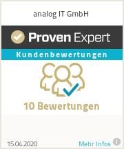 Erfahrungen & Bewertungen zu analog IT GmbH