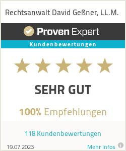 Erfahrungen & Bewertungen zu Rechtsanwalt David Geßner