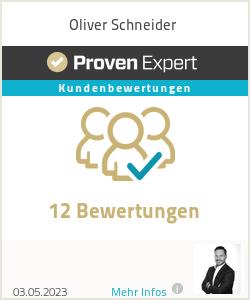 Erfahrungen & Bewertungen zu Oliver Schneider