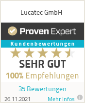 Testimonials &amp; Ratings for Lucatec<sup>&reg;</sup> GmbH