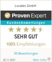 Erfahrungen &amp; Bewertungen zu Lucatec<sup>&reg;</sup> GmbH