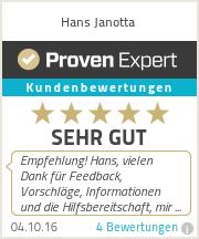 Erfahrungen & Bewertungen zu Hans Janotta