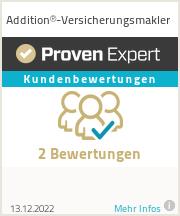 Erfahrungen & Bewertungen zu Addition®-Versicherungsmakler