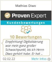Erfahrungen & Bewertungen zu Mathias Diwo