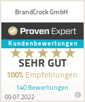 Erfahrungen & Bewertungen zu BrandCrock GmbH