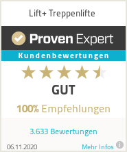 Erfahrungen & Bewertungen zu Lift+ Treppenlifte