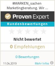 Erfahrungen & Bewertungen zu #MARKEN_sachen Marketingberatung. Wir produzieren Inhalte.